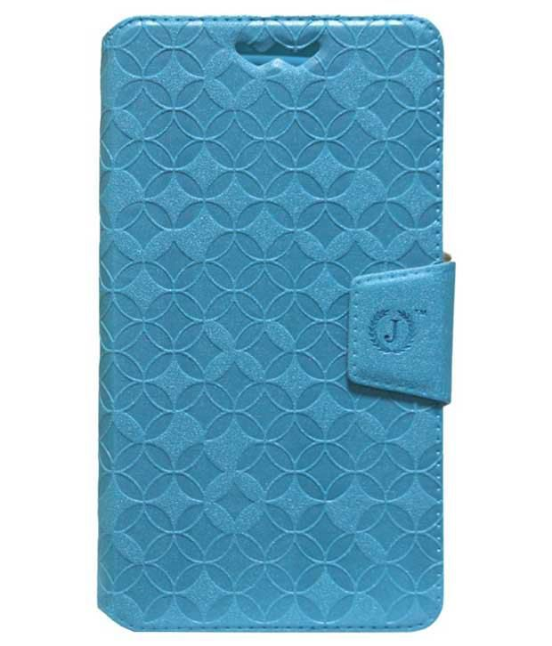 Jo Jo Synthetic Flip Cover For Fly F51 - Blue