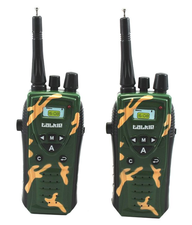 Little Grin Little grin Wireless MILITARY WALKIE TALKIE SET Radio Control with Antenna Gift Toy for Kids
