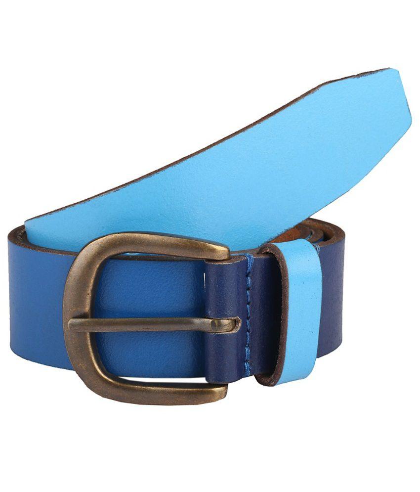 Paradigm Design Lab Blue Casual Single Belt For Men