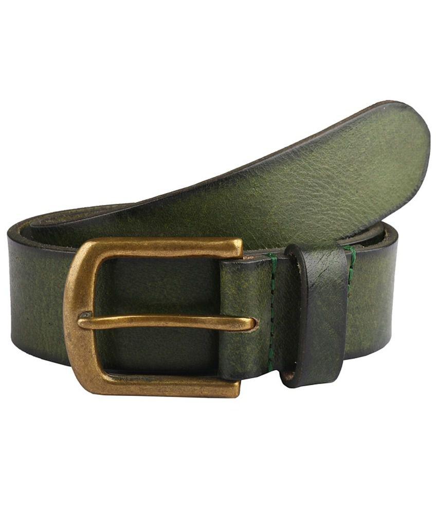 Paradigm Design Lab Green Casual Single Belt For Men