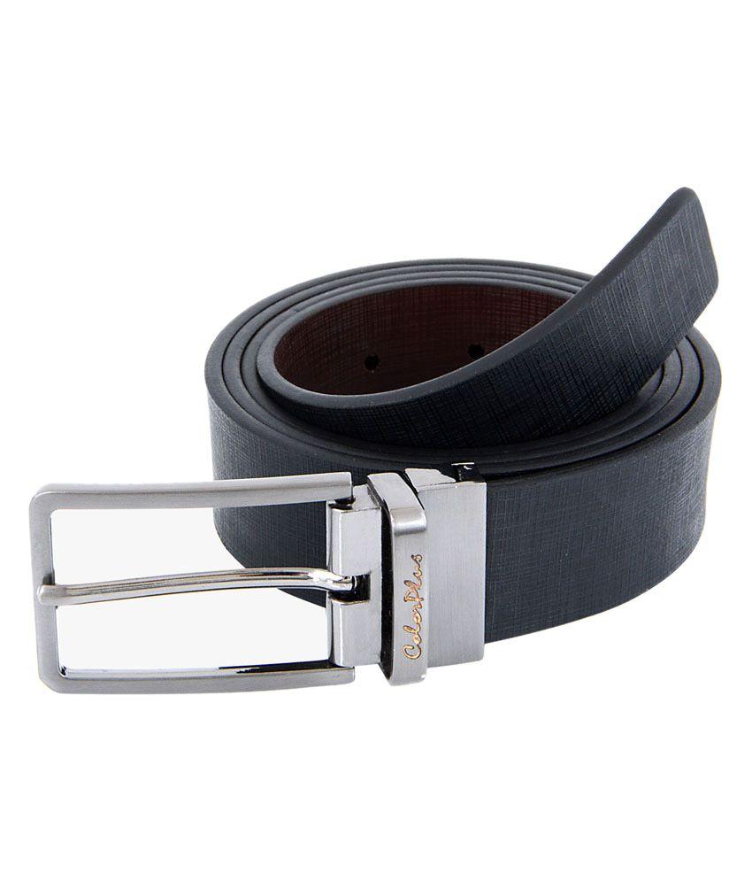 ColorPlus Black Leather Belt For Men