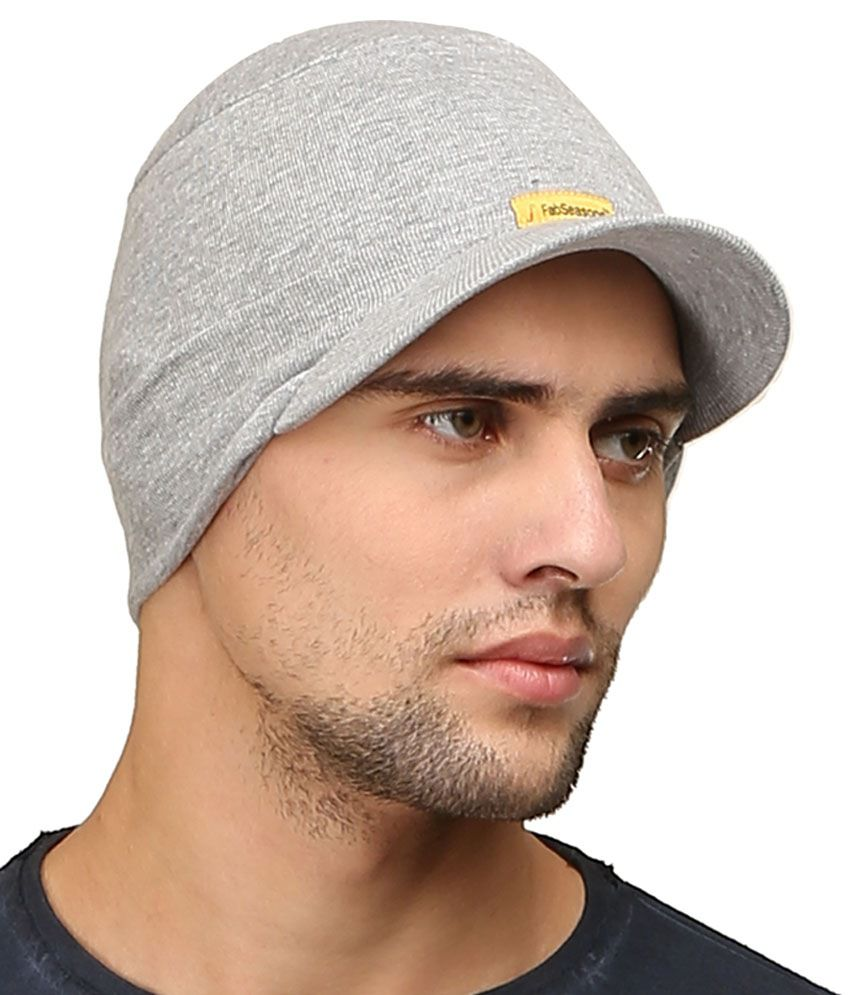7f24d4bf02b66 Fabseasons Gray Cotton Winter Cap Fabseasons Gray Cotton Winter Cap ...