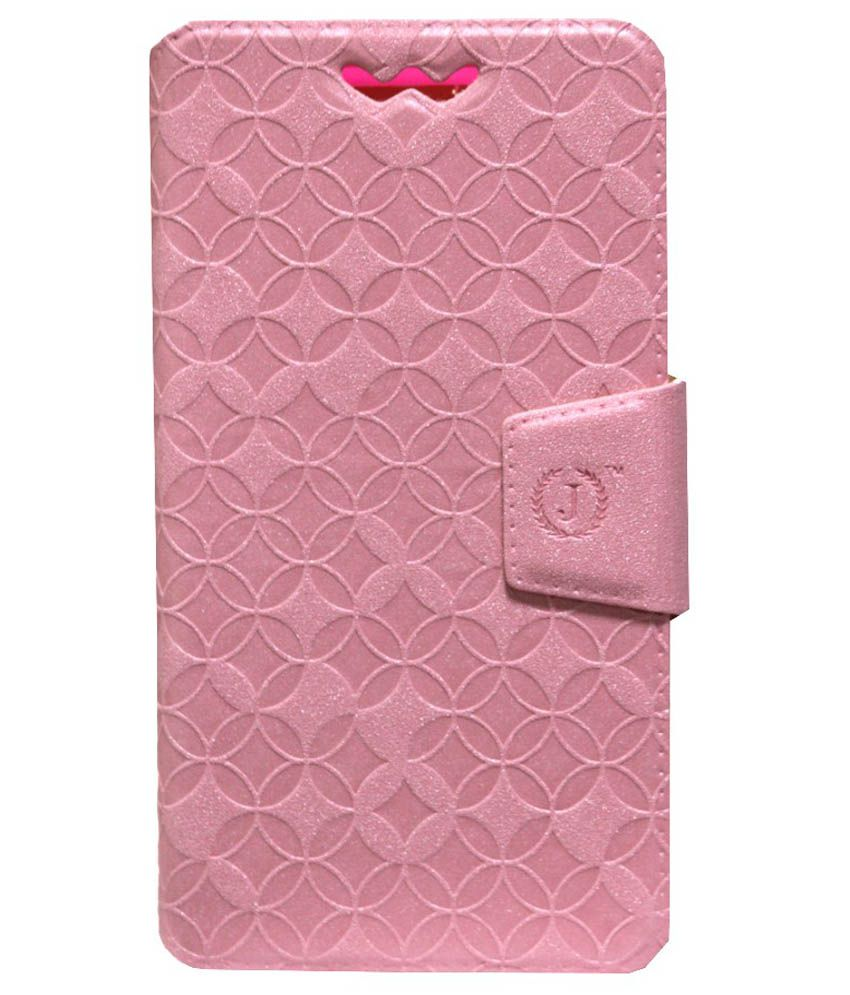 Jo Jo Cover Aarav Series Synthetic Flip Case With Silicon Holder For Samsung Galaxy S5 Neo - Pink
