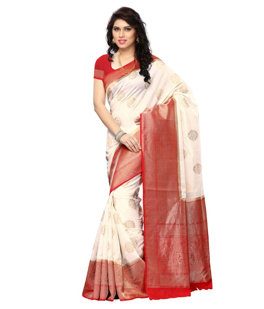 199e3ec4f2 Meghdoot Red and Cream Art Kanchipuram Silk Saree With Blouse Piece - Buy Meghdoot  Red and Cream Art Kanchipuram Silk Saree With Blouse Piece Online at Low ...