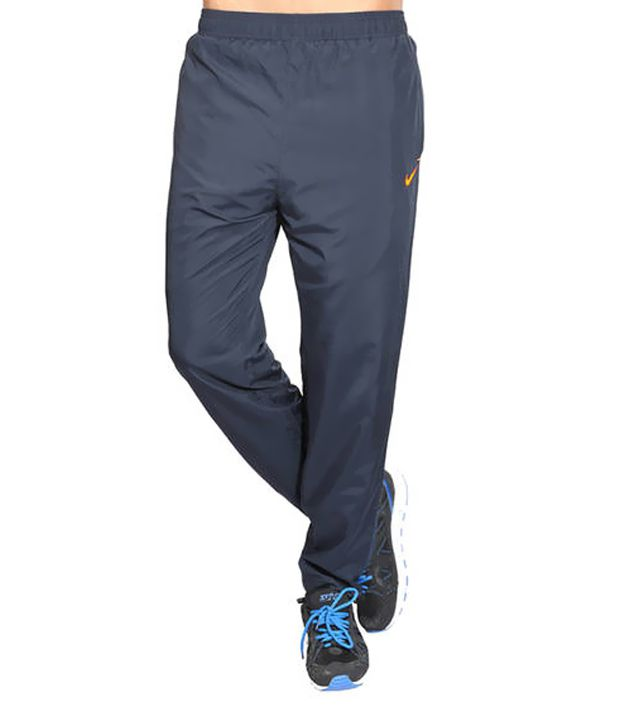 Nike Navy Polyester Trackpants