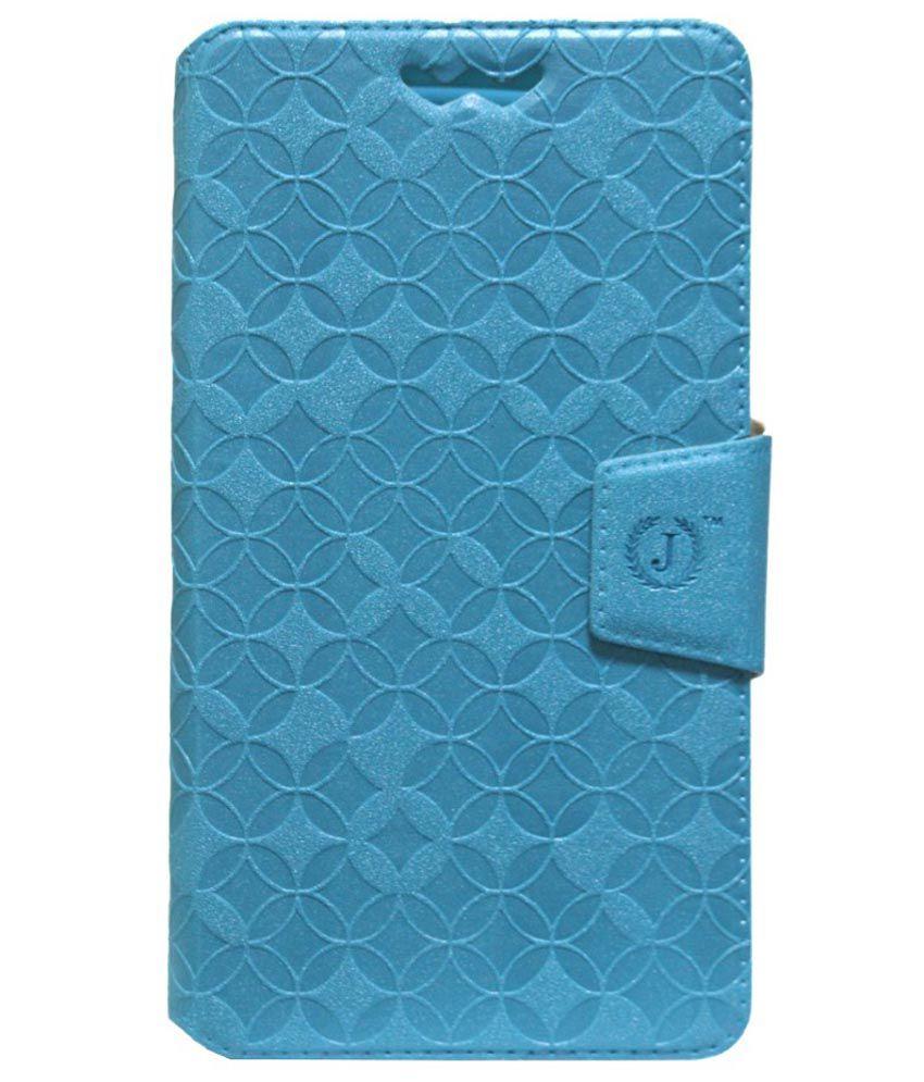 Jo Jo Synthetic Flip Cover Case For Sony Xperia E4 - Blue