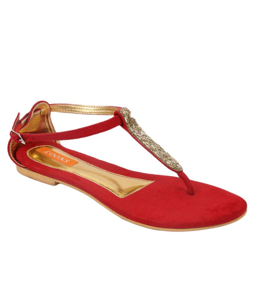 Looks Red Sandals