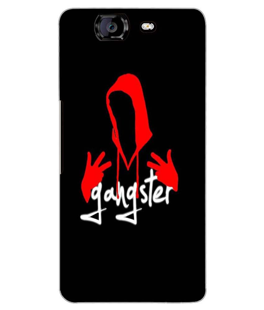 d43091dec663 PrintVisa Premium Designer GANGSTER Back Case Cover for MICROMAX KNIGHT  A350 - D7503 - Printed Back Covers Online at Low Prices