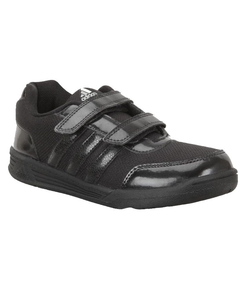 b1760734615f Adidas Black School Shoes For Kids Price in India- Buy Adidas Black School  Shoes For Kids Online at Snapdeal