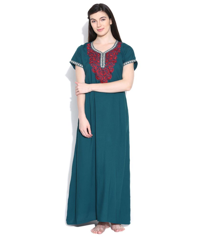 Sand Dune Green Polyester Nighty