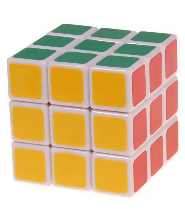 Smiles Creation Magic Cube White Stickerless Rubik #039;s Cube 3x3x3