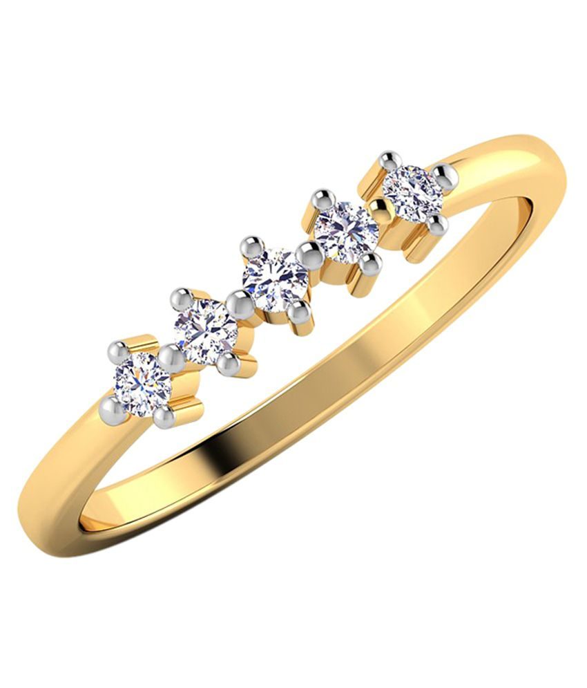 Caratstyle 18Kt Gold Diamond Ring