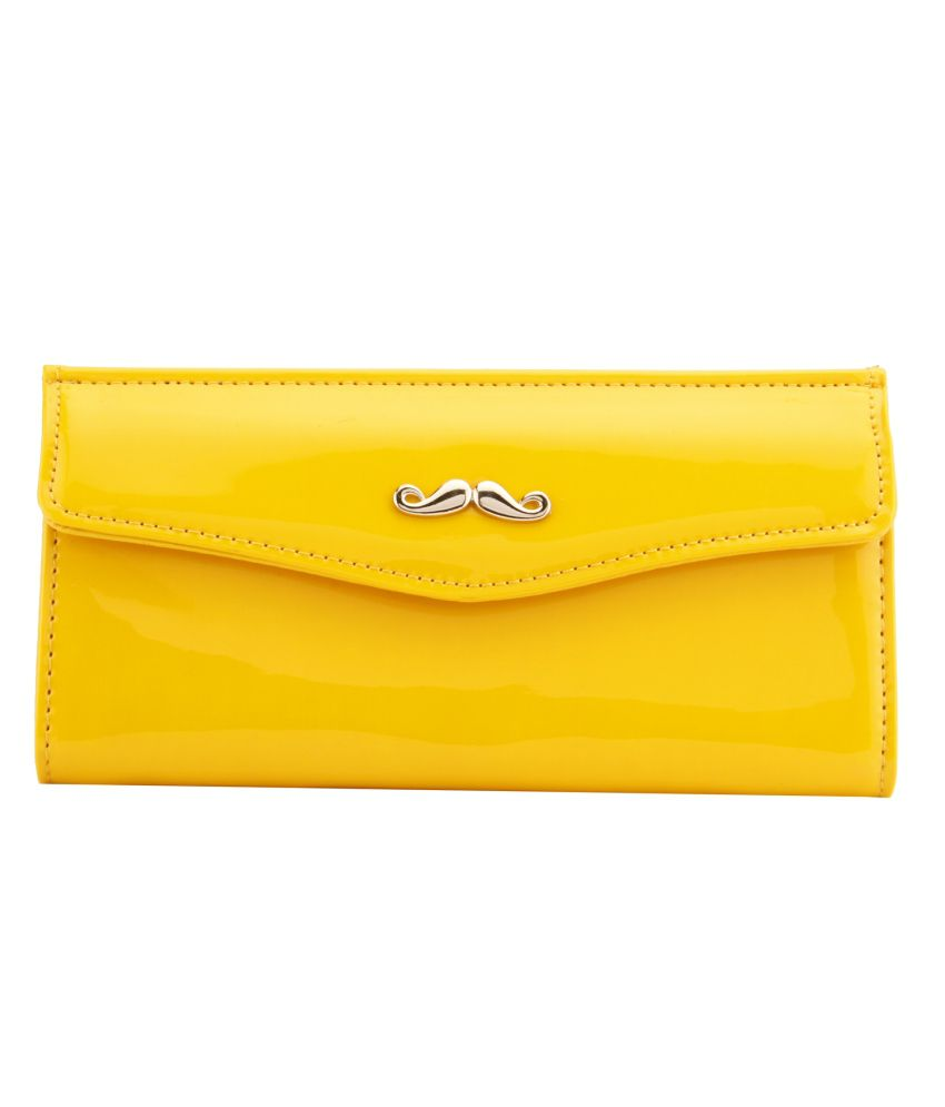 Louise & Harris Non Leather Yellow Long Wallet For Women