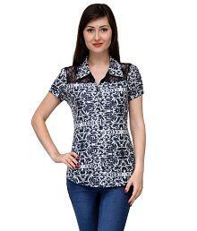 India Inc Blue Cotton Shirts