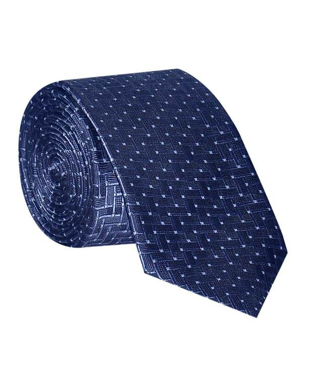 Posto Blue Micro Fiber Formal Narrow Tie
