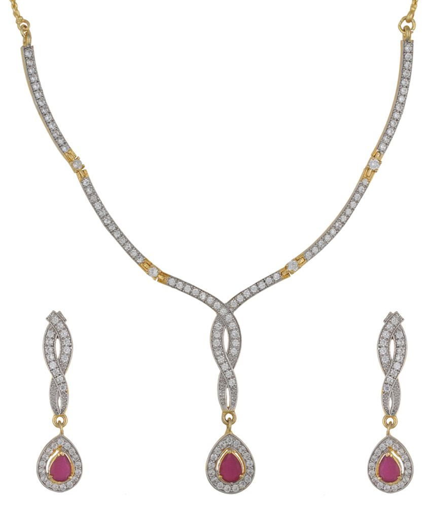 Sri Vyshnavi Creations Silver Bridal Necklace Set
