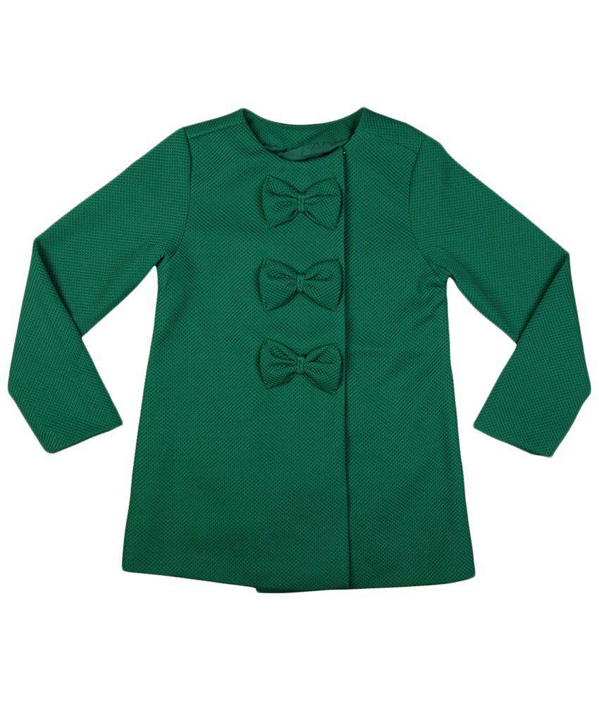 Allen Solly Green Full Sleeve Coat