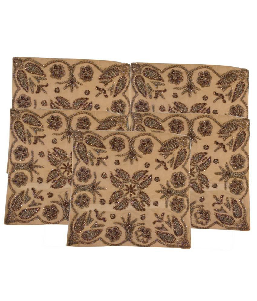 Apurv Creations Brown Cushion Cover - Set Of 2