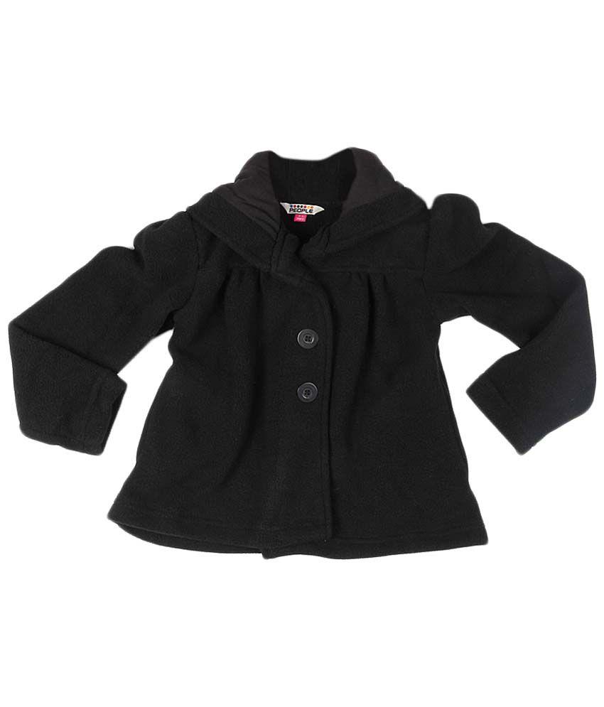 People Black Full Sleeve Coat