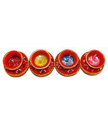 Fragrance Concoction Red Matki Candle Pack Of 4