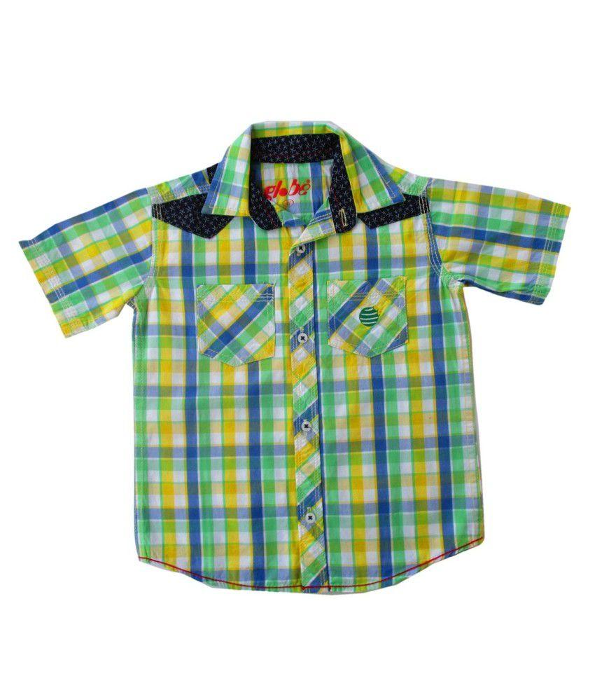 Globe Yellow Cotton Baby Shirt
