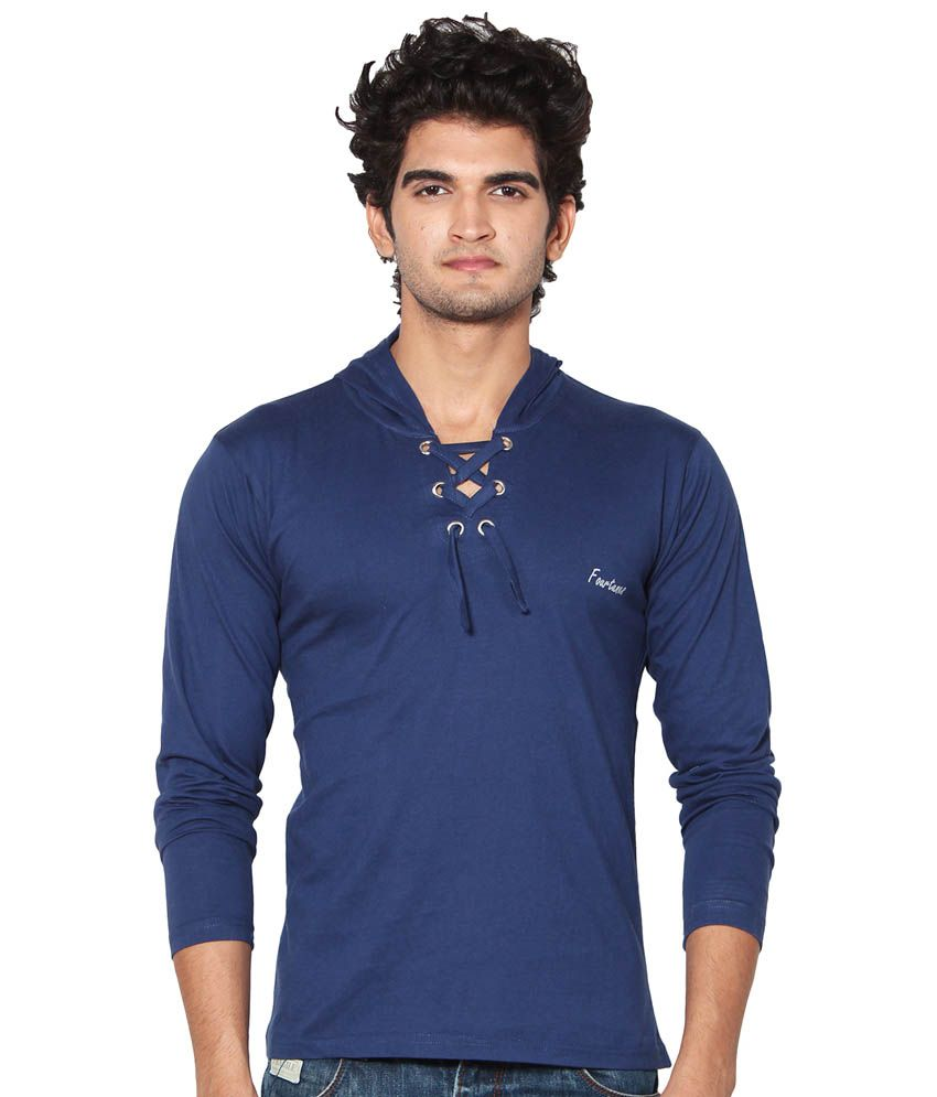 AMP Colors Blue Cotton T-Shirt