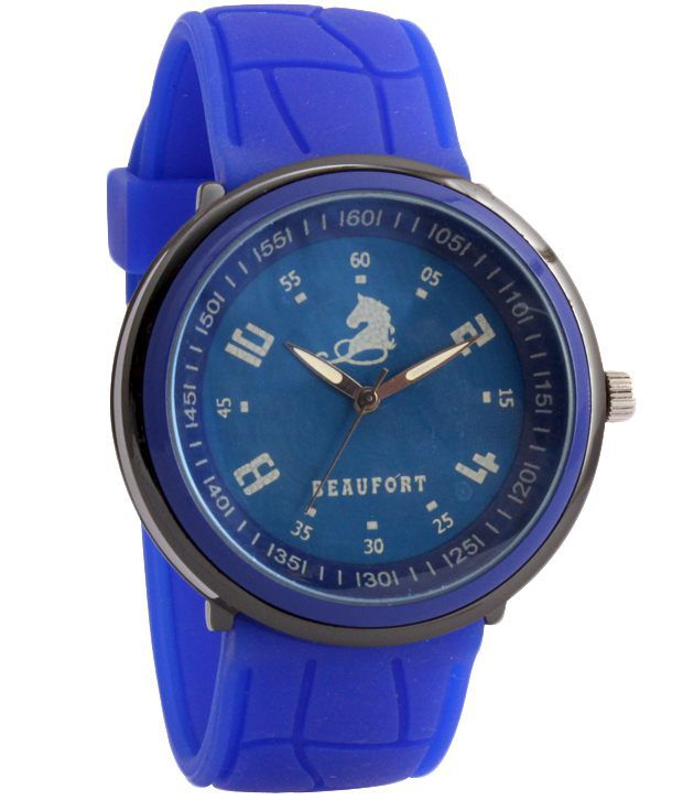 Beaufort Blue Silicon Analog Watch