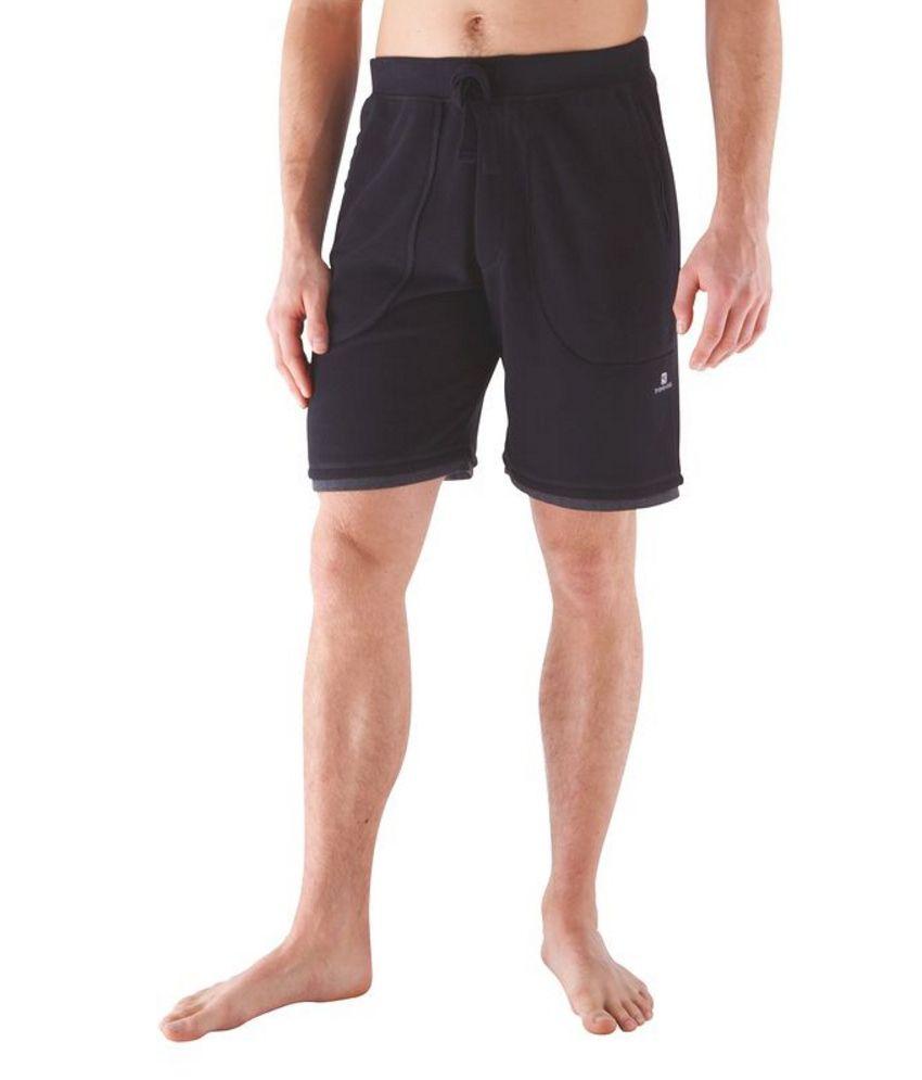 Domyos Fleece Dark Grey Shorts