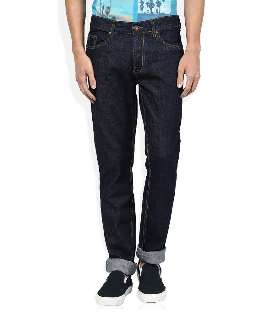 Newport Navy Raw Denim Slim Fit Jeans