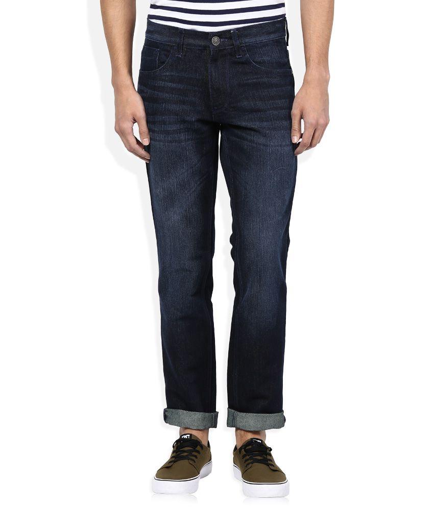Newport Navy Dark Wash Slim Fit Jeans