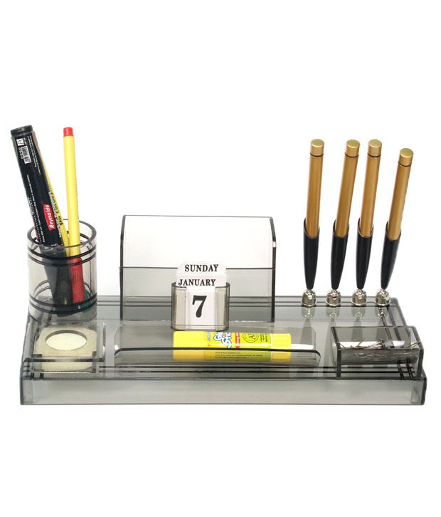 Rasper Acrylic Pen Stand Table Top With
