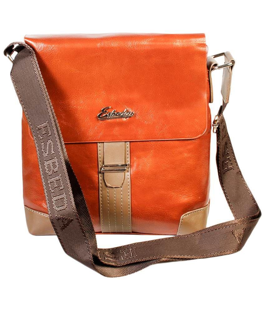 Esbeda Black PU Sling Bag for Men - Buy Esbeda Black PU Sling Bag ...