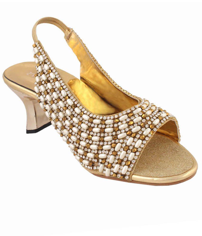 Skinn Golden Ethnic Sandals