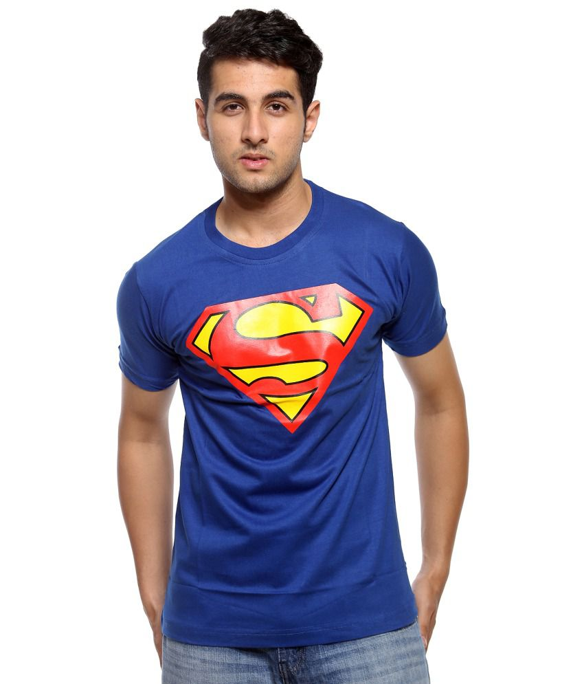 Trendmakerz Blue Cotton T Shirt