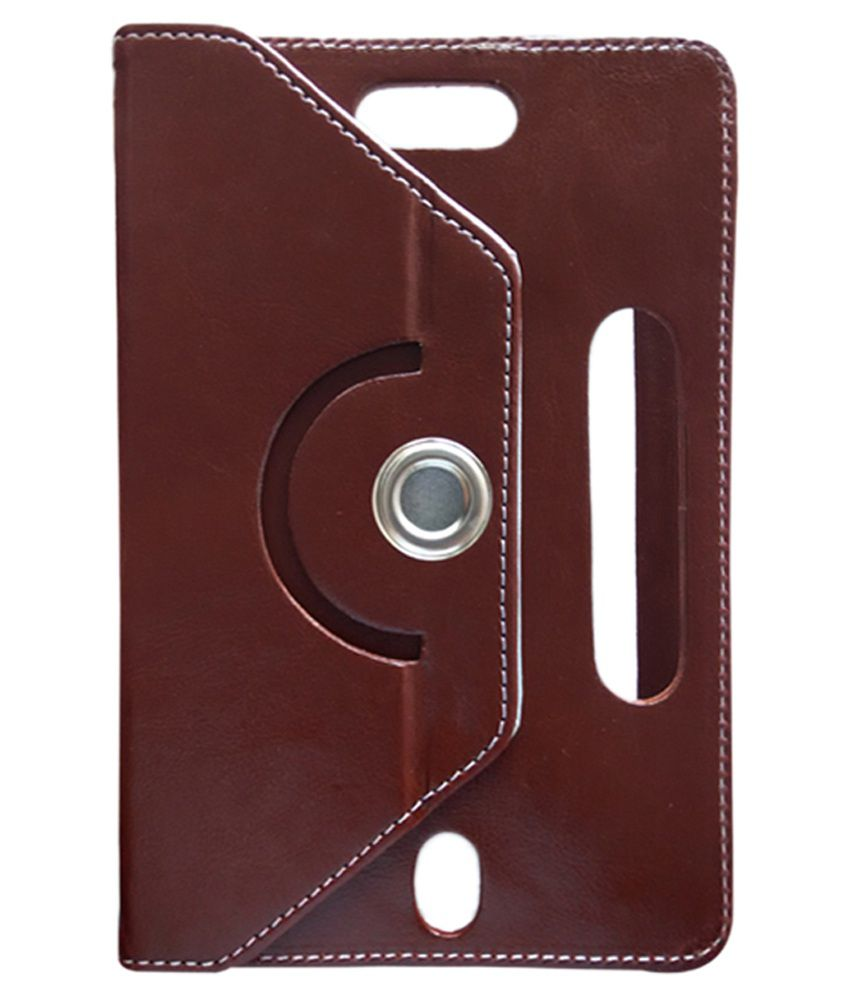 Fastway Flip Cover for Data Wind Ubislate 3G 7 - Brown