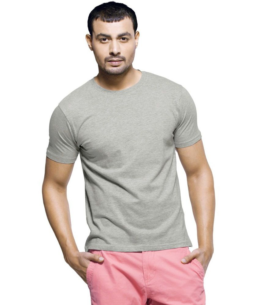 V3squared Grey Cotton Blend T-shirt Pack Of 4