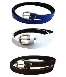 Verceys Multicolour Casual Belt For Men - Combo Of 3