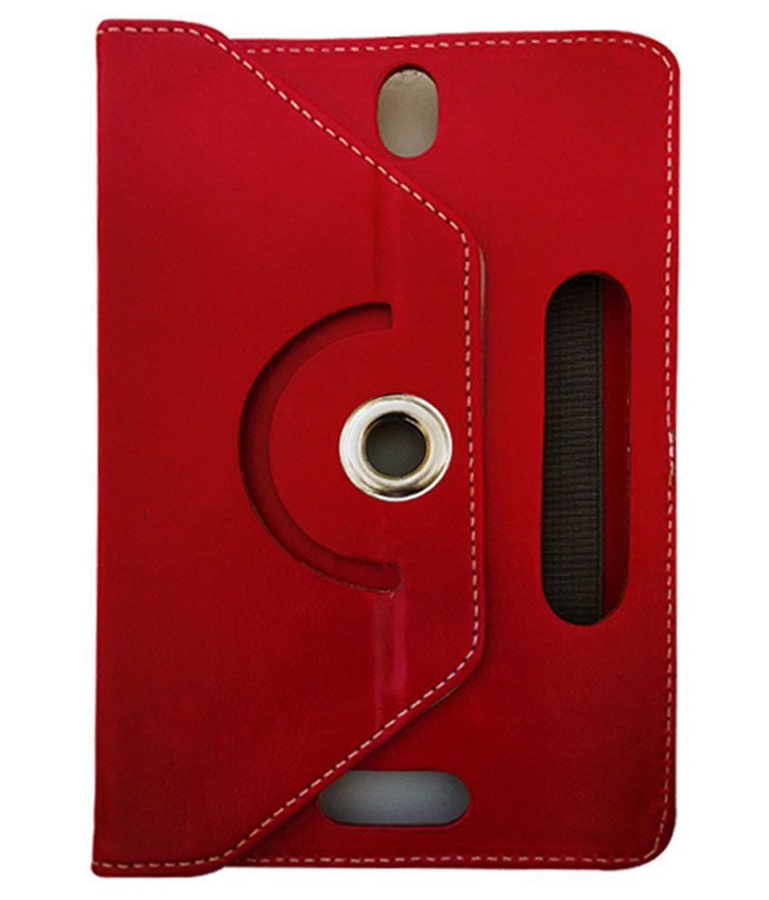 Fastway Flip Cover For Bsnl Penta T-pad Ws707c - Red