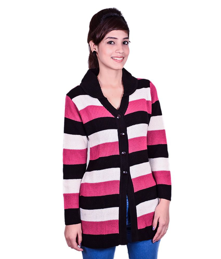Cee-For Multi Woollen Buttoned Cardigans