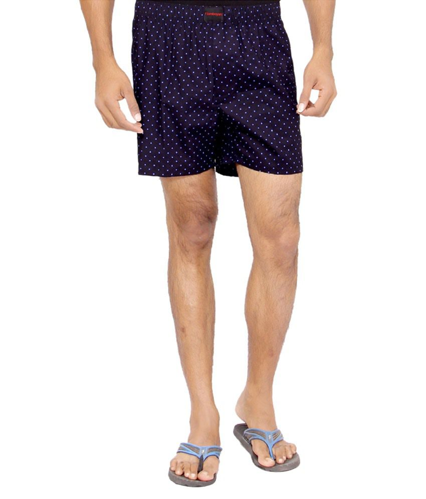 Flamboyant Navy & Blue Cotton Printed Shorts