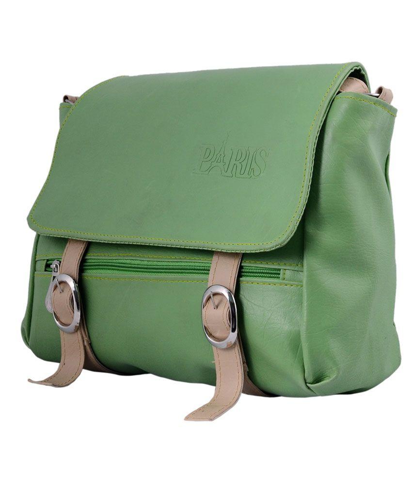 Paris Green Classy Sling Bag - Buy Paris Green Classy Sling Bag ...