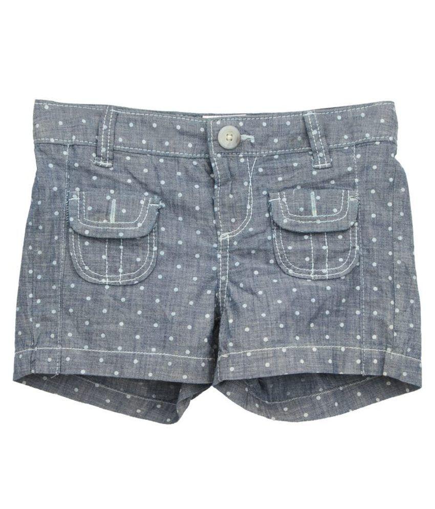 Eimoie Blue Cotton Shorts