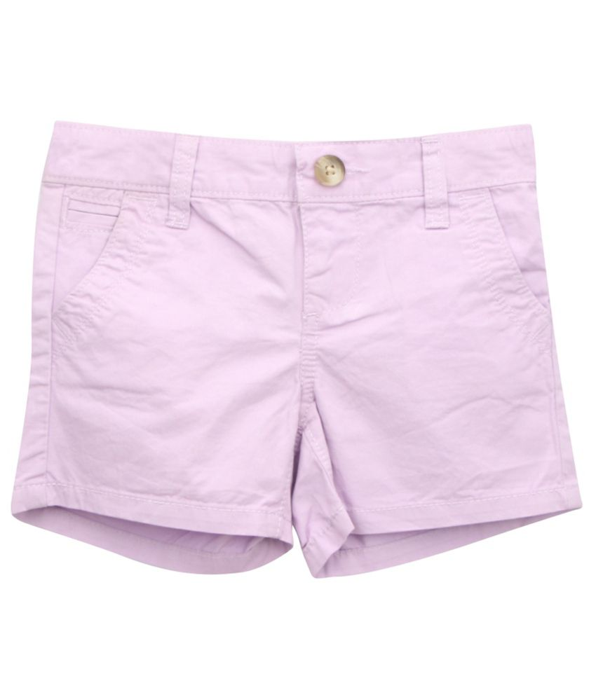 Eimoie Purple Cotton Shorts