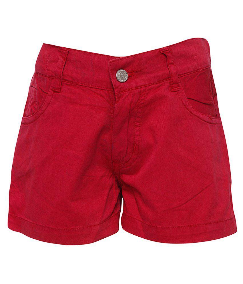 Joshua Tree Red Cotton Shorts