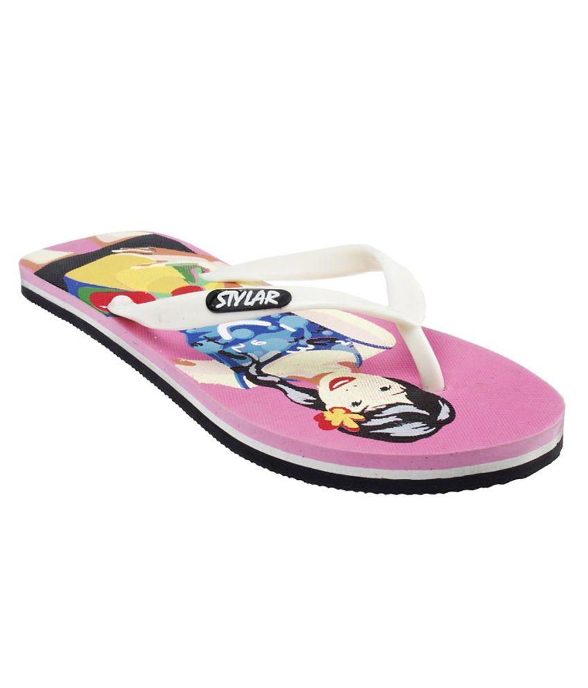 Stylar Stylish Pink Flip Flops