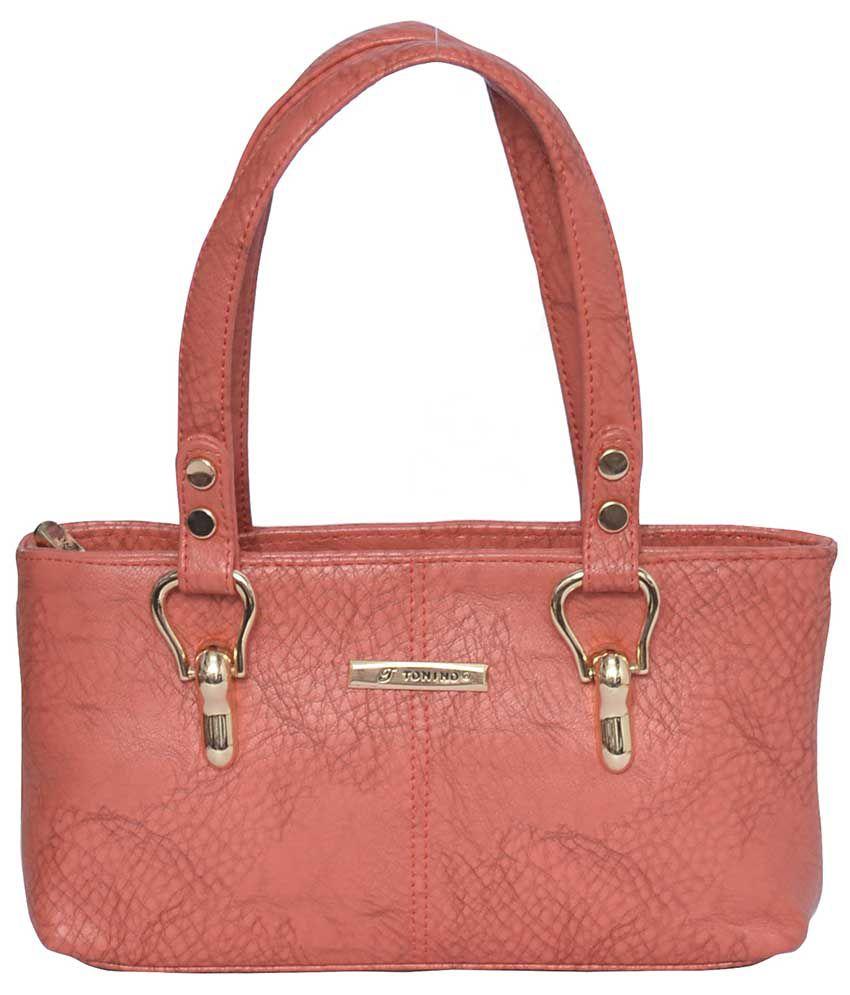 Tonino Leathers Peach Shoulder Bag