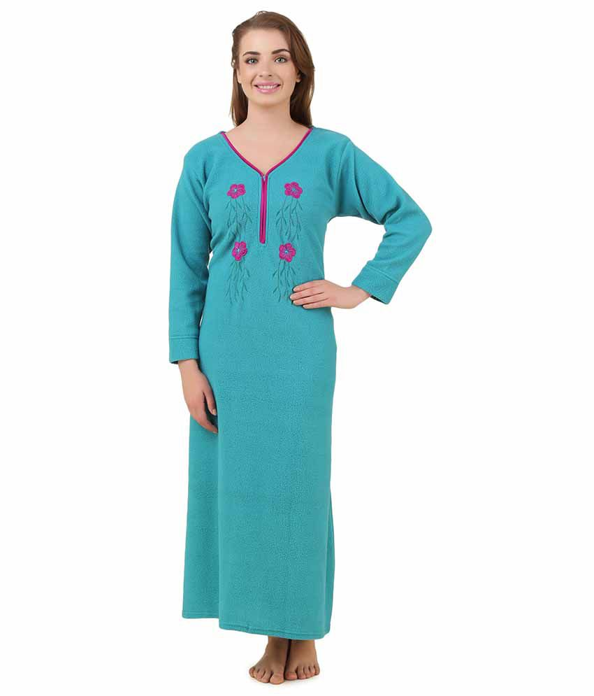Buy Masha Green Woollen Nighty Online at Best Prices in India - Snapdeal 21d6b5029