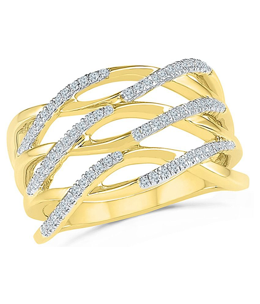Radiant Bay Yellow Gold 18Kt EGL Certified Ring