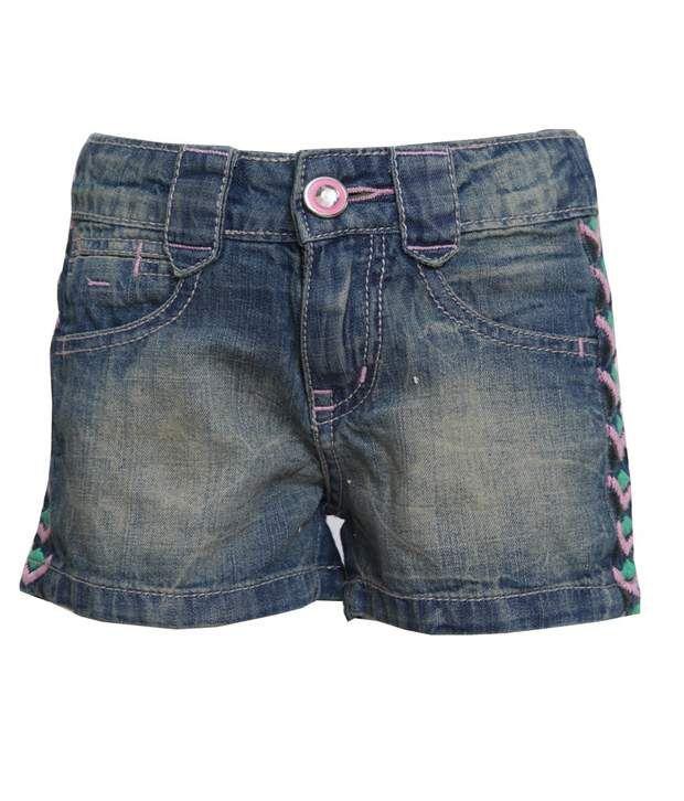 Tales & Stories Blue Denim Shorts