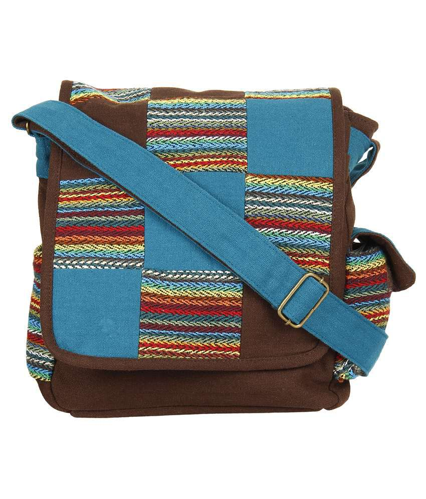 Anekaant Canvas Messenger Bag-multicolour